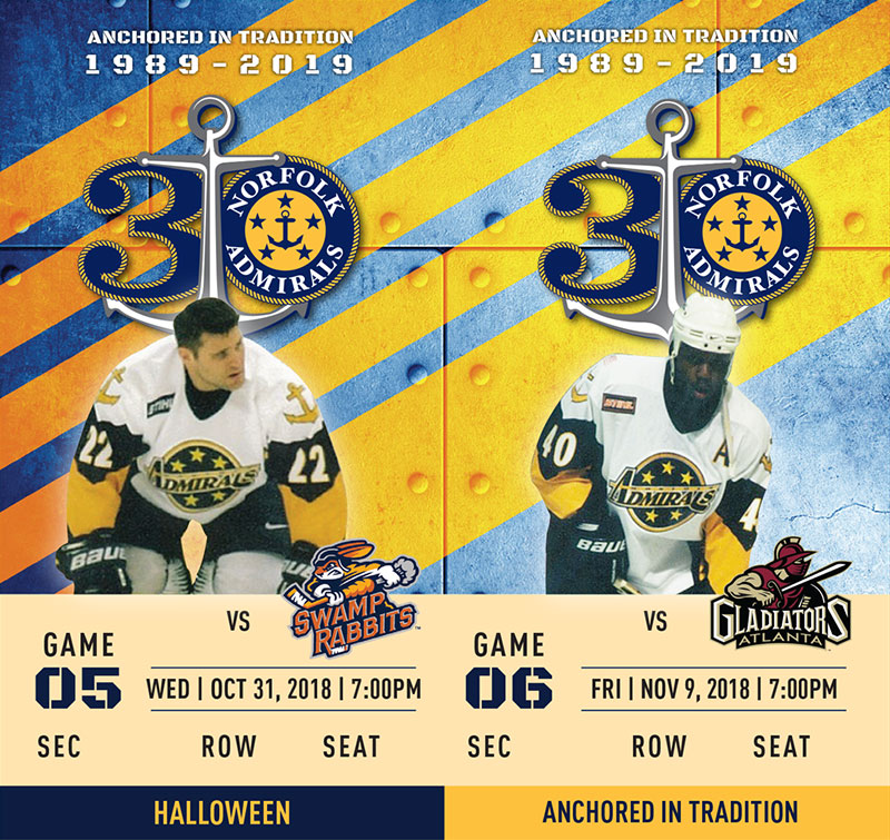 Norfolk Admirals tickets 3