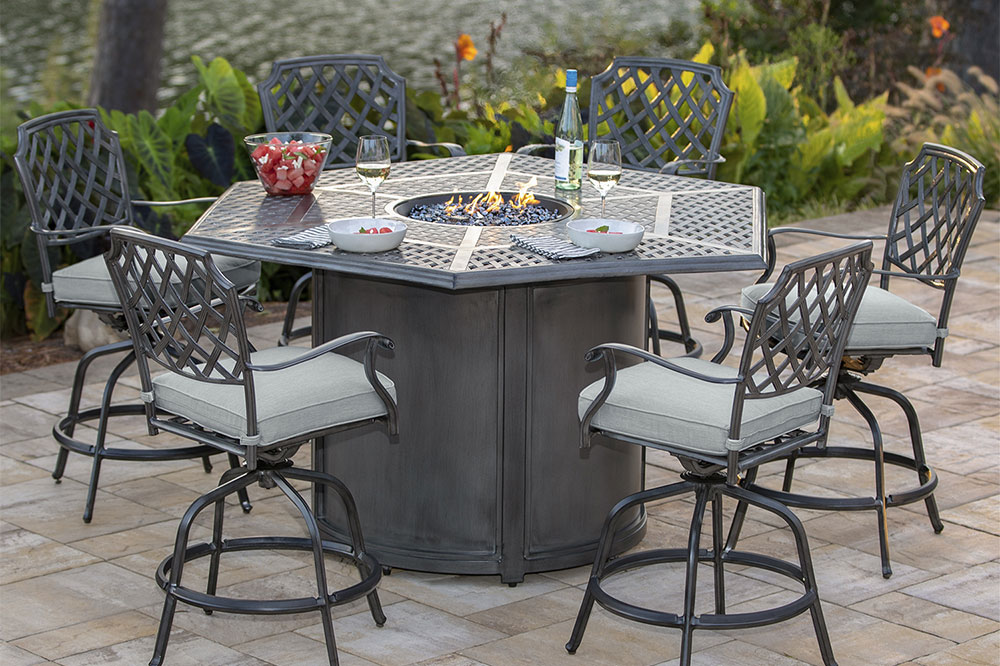 Agio outdoor fire pit set