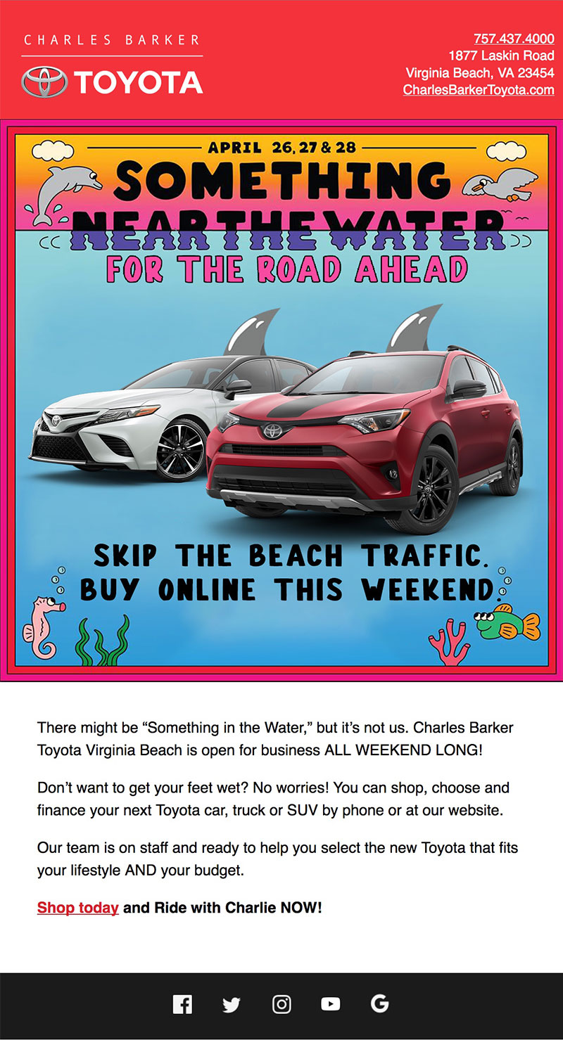 Charles Barker Toyota Something in the Water email