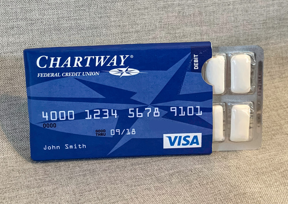 Chartway pack of gum