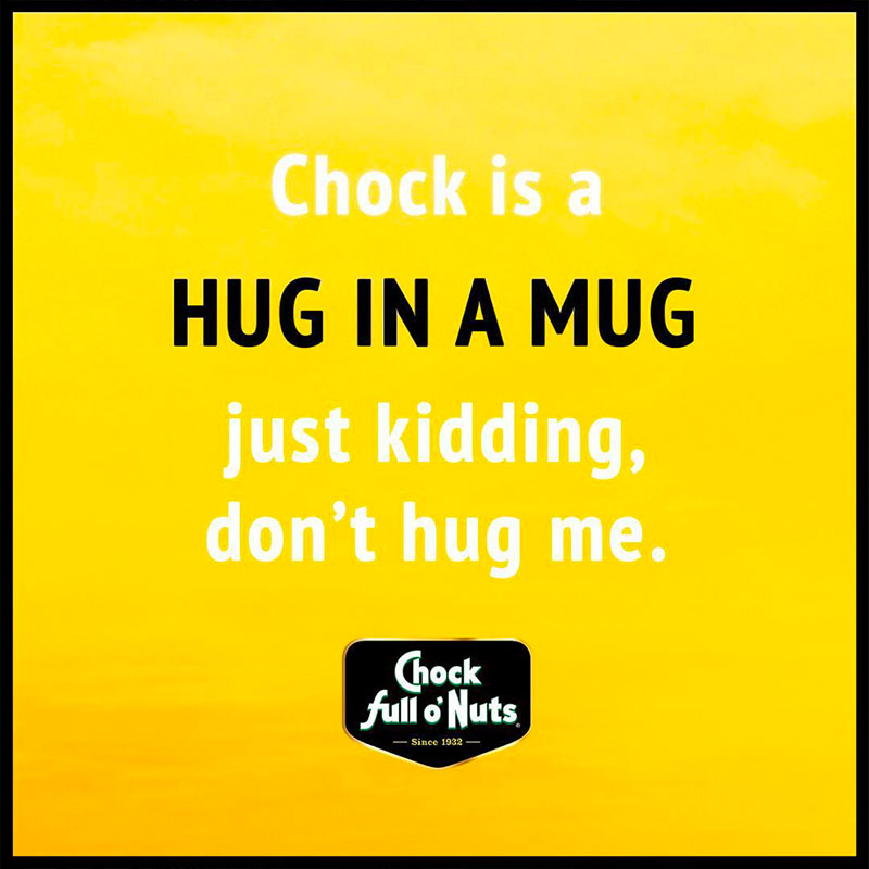 Chock social post - hug in a mug