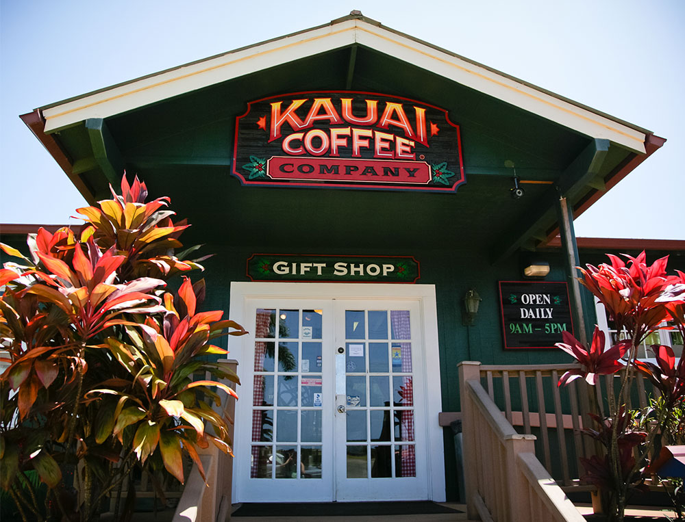 Kauai coffee gift shop