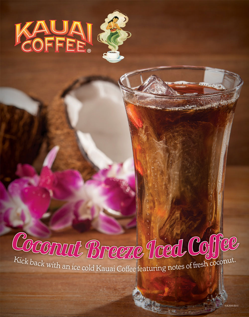 Kauai coconut breeze iced coffee poster