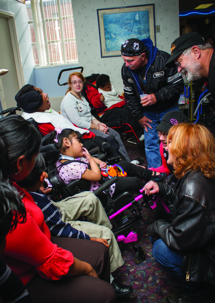 Harley Riders visit Lake Taylor Transitional Care Hospital's Patients