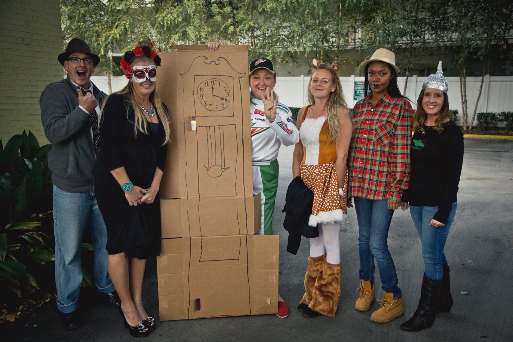 OEA employees dressed in Halloween costumes