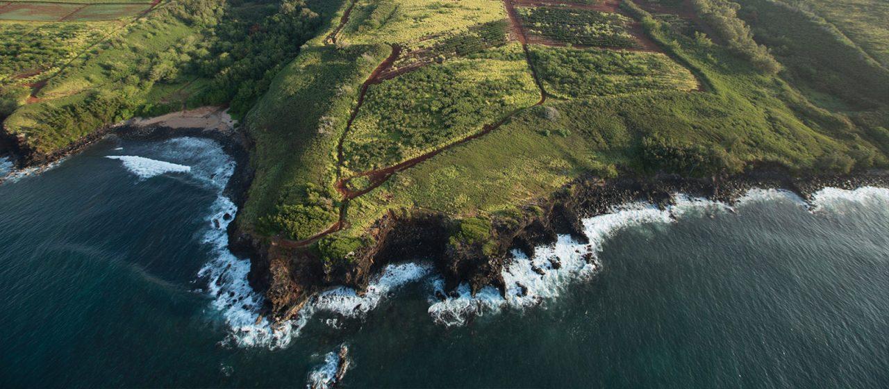 Kauai Island aerial view